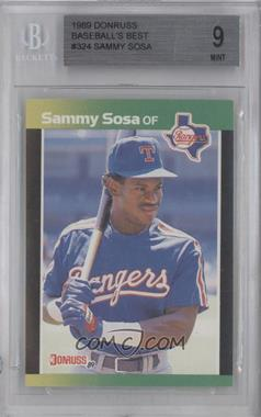 1989 Donruss Baseball's Best Box Set [Base] #324 - Sammy Sosa [BGS 9]