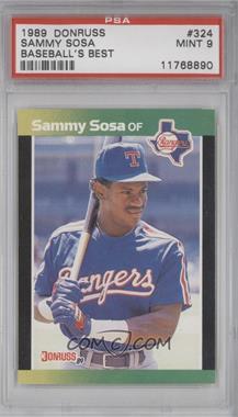 1989 Donruss Baseball's Best Box Set [Base] #324 - Sammy Sosa [PSA9]