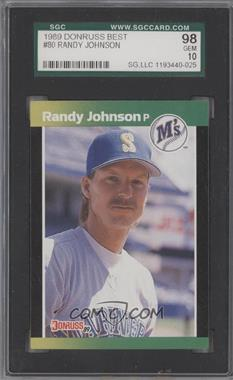 1989 Donruss Baseball's Best Box Set [Base] #80 - Randy Johnson [SGC 98]
