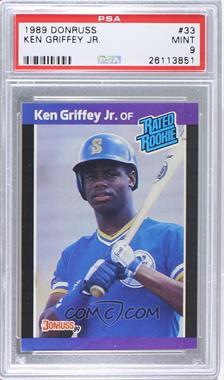 1989 Donruss #33 - Ken Griffey Jr. [PSA9]