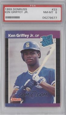 1989 Donruss #33 - Ken Griffey Jr. [PSA 8]