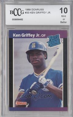 1989 Donruss #33 - Ken Griffey Jr. [ENCASED]