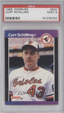 1989 Donruss #635 - Curt Schilling [PSA9]