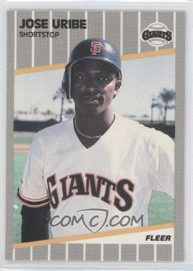 1989 Fleer - [Base] - Glossy #345 - Jose Uribe