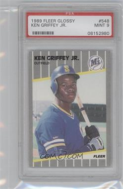 1989 Fleer - [Base] - Glossy #548 - Ken Griffey Jr. [PSA9]