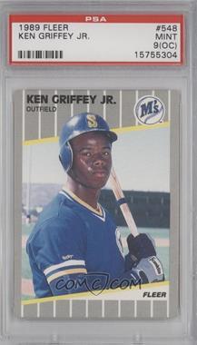 1989 Fleer - [Base] #548 - Ken Griffey Jr. [PSA9]