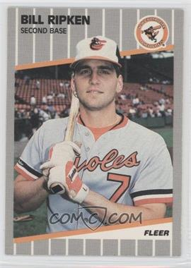 1989 Fleer - [Base] #616.5 - Bill Ripken (Black Box on Bat Knob)