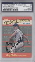 Greg Maddux [PSA/DNA Certified Auto]