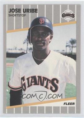 1989 Fleer Glossy #345 - Jose Uribe