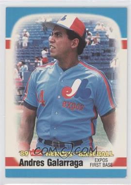 1989 Fleer Heroes of Baseball Box Set [Base] #16 - Andres Galarraga