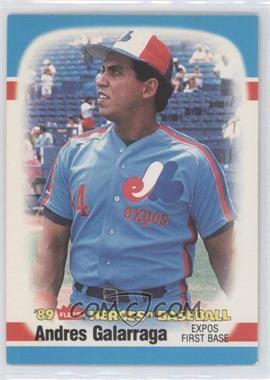 1989 Fleer Heroes of Baseball Box Set [Base] #89 - Andres Galarraga