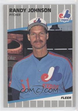 1989 Fleer #381.11 - Randy Johnson (Completely Blacked Out Billboard)