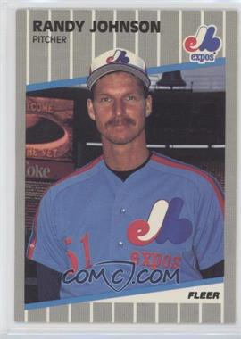 1989 Fleer #381.9 - Randy Johnson (Black Box on Billboard)