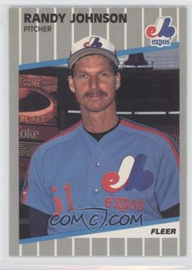 1989 Fleer #381.9 - Randy Johnson (Black Box on Billboard)