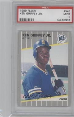 1989 Fleer #548 - Ken Griffey Jr. [PSA 9]