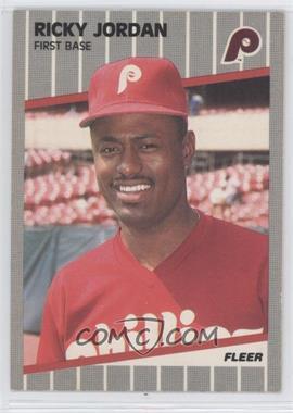 1989 Fleer #575 - Ricky Jordan