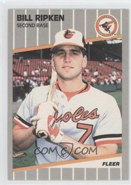 1989 Fleer #616.4 - Bill Ripken (Black Scribble on Bat Knob)