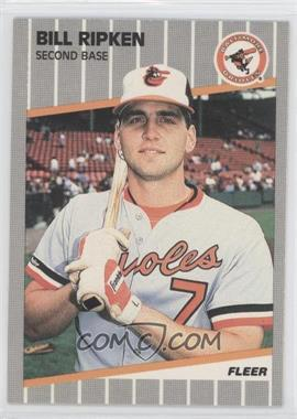 1989 Fleer #616E - Bill Ripken (Black Box on Bat Knob)