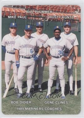 1989 Mother's Cookies Seattle Mariners Stadium Giveaway [Base] #27 - Mike Parrott, Bill Plummer, Rusty Kuntz, Bo Diaz