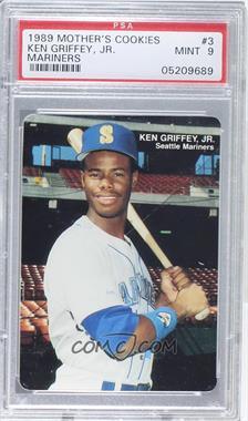 1989 Mother's Cookies Seattle Mariners Stadium Giveaway [Base] #3 - Ken Griffey Jr. [PSA9]