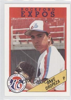 1989 Rockford Litho Center Rockford Expos - [Base] #49 - Dave Oropeza