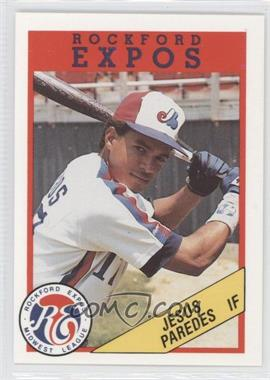 1989 Rockford Litho Center Rockford Expos #17 - Jeff Parrett