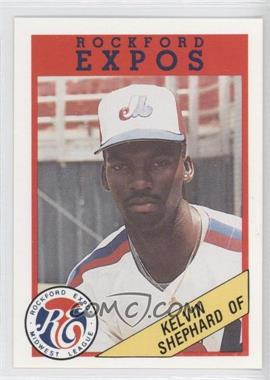 1989 Rockford Litho Center Rockford Expos #44 - Kelvin Shephard