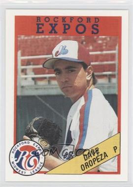 1989 Rockford Litho Center Rockford Expos #49 - Dave Oropeza