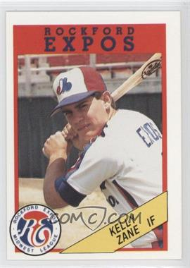 1989 Rockford Litho Center Rockford Expos #9 - Kelly Zane