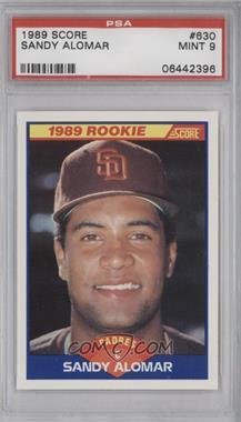 1989 Score #630 - Sandy Alomar Jr. [PSA9]