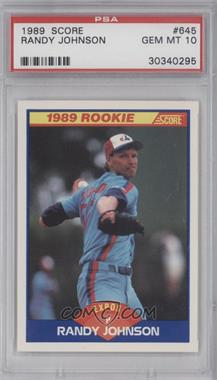 1989 Score #645 - Randy Johnson [PSA 10]