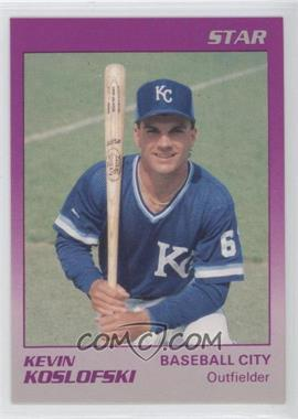 1989 Star Baseball City Royals - [Base] #14 - Kevin Koslofski