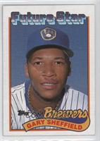 Gary Sheffield (small gap between hat and Future Stars header)