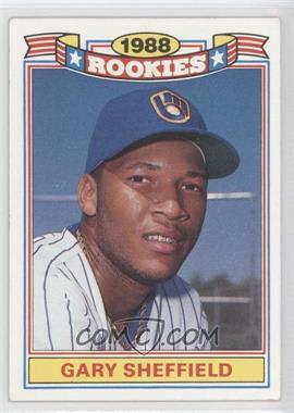 1989 Topps Jumbo Pack Glossy Rookies #20 - Gary Sheffield