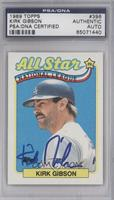 Kirk Gibson [PSA/DNA Certified Auto]