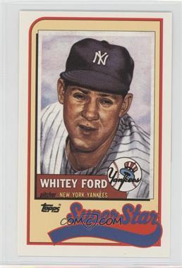 1989 Topps/LJN Baseball Talk #31 - Whitey Ford