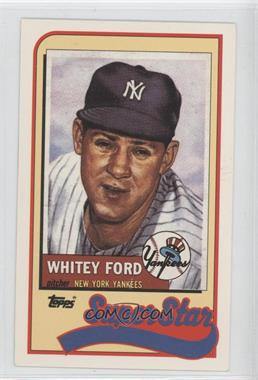 1989 Topps/LJN Baseball Talk #31 - Whitey Ford