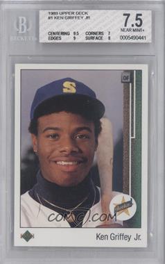 1989 Upper Deck - [Base] #1 - Ken Griffey Jr. [BGS7.5]
