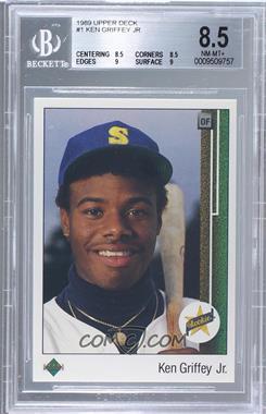 1989 Upper Deck - [Base] #1 - Ken Griffey Jr. [BGS8.5]