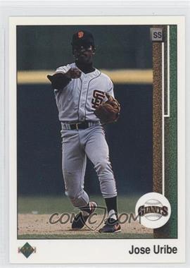 1989 Upper Deck - [Base] #181 - Jose Uribe