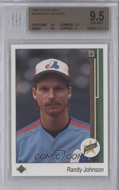 1989 Upper Deck - [Base] #25 - Randy Johnson [BGS 9.5]