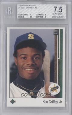 1989 Upper Deck #1 - Ken Griffey Jr. [BGS7.5]