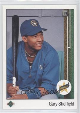 1989 Upper Deck #13.2 - Gary Sheffield (Correct: Right Side Up SS on Front)
