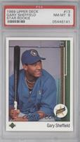 Gary Sheffield (Correct: Right Side Up SS on Front) [PSA 8]
