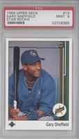 Gary Sheffield (Correct: Right Side Up SS on Front) [PSA9]