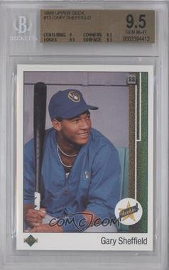 1989 Upper Deck #13.2 - Gary Sheffield (Correct: Right Side Up SS on Front) [BGS 9.5]