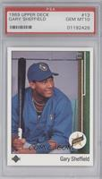 Gary Sheffield (Correct: Right Side Up SS on Front) [PSA 10]