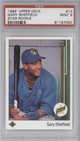 Gary Sheffield (Correct: Right Side Up SS on Front) [PSA 9]