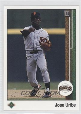 1989 Upper Deck #181 - Jose Uribe
