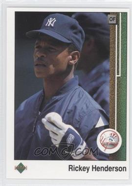 1989 Upper Deck #210 - Rickey Henderson
